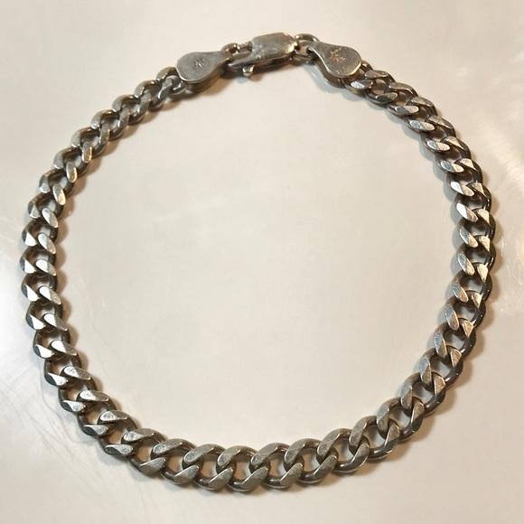 Italy 925 Sterling Silver Unique Link Bracelet 6 34